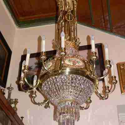 Twelve-lamp chandelier from the turn of the nineteenth and twentieh centuries.