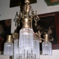 Chandelier with the glass fringes