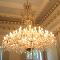 Restored chandelier from the time of Maria Teresa for the castle of Mojmirovce, Slovak Republic