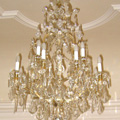 Restored in the style of the time of Maria Teresa chandelier for the Kunin castle