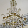 Restored Empire chandelier for the Kunin castle
