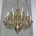 Restored Baroque chandelier for the Lednice castle