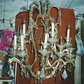 Chandelier in the style of the time of Maria Teresa style for the castle in Dukovany (before restoration)