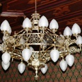 Chandelier in the Gothic Revival style for the castle Zruči nad Sázavou