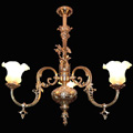 Replica of a gas chandelier for a private residence