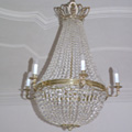 Chandelier in the Empire style for a private castle